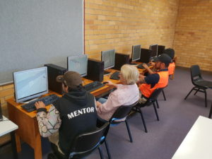 TAFE NSW carpentry class using Sketchup